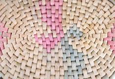 High definition straw basket pattern Royalty Free Stock Photos