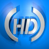High definition symbol Stock Images