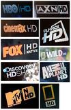 High Definition TV channels Stock Photography