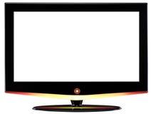High definition tv. Isolated Stock Photos