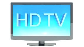 High definition TV isolated on white background.  Stock Image