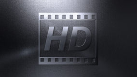 High definition video background. Metallic High definition video background Royalty Free Stock Image