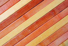 High definition yellow and orange bamboo Royalty Free Stock Image