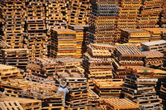 Stack of pallets. royalty free stock photography