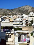 High Density Athens Houses. Typical high density multi level houses and apartments in Athens, Greece, these on the lower slopes of Mt Imitos royalty free stock images