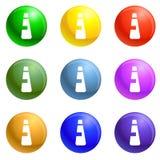High density bottle icons set vector. High density bottle icons vector 9 color set isolated on white background for any web design vector illustration