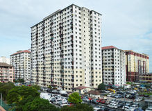 High Density Housing in Malaysia Royalty Free Stock Images