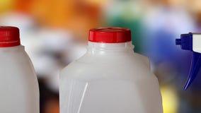 High-density polyethylene, HDPE, PEHD, PEAD bottle. stock video