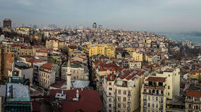 High density population city. A shot of Istanbul city from high view point showing the highly populated area Stock Photography