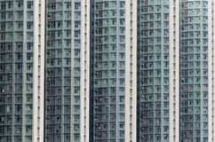 High Density Public Housing Building in Hong Kong Royalty Free Stock Photography