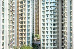 High-density public housing estate, Hong Kong Royalty Free Stock Photo