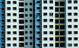 High density residential building facade view royalty free stock image