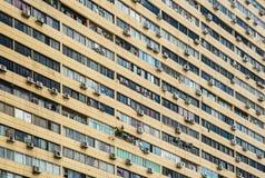 High density residential building facade view stock photo