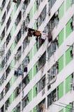 High-density sociale woningbouw, Hong Kong Royalty-vrije Stock Foto's