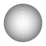 High density thin spiral in a circle. 3D sphere effect. Vector illustration.  Vector Illustration