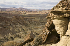 High desert badlands Stock Photos