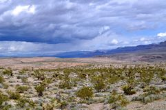 High Desert and Low Clouds Royalty Free Stock Image