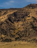 High desert mountains in Oregon. Sparsely forested mountains in the high desert at Hart Mountain National Antelope Range in eastern Oregon royalty free stock photography