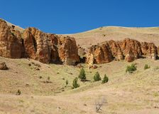 High Desert Palisades Stock Photography
