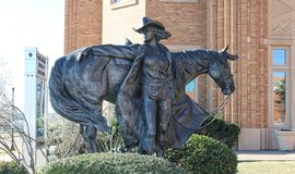 The High Desert Princess with horse statue at the National Cowgirl Museum and Hall of Fame. Stock Images