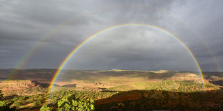 High Desert Rainbow. Stock Photography