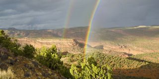 High Desert Rainbow. Royalty Free Stock Photography