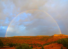 High Desert Rainbow. Royalty Free Stock Photos