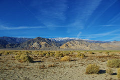 High desert and White Mountains, Nevada Royalty Free Stock Image