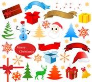 High detail christmas icons Stock Image