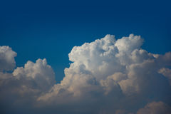 High detail cloud on blue sky background. High detail cloud on beautiful blue sky background Stock Photo
