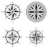 High Detail Compass Rose Set Stock Photo