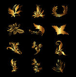 High Detail Floral Ornament. Gold Flourish Pattern Vector Royalty Free Stock Photos