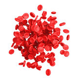 High Detail Red Blood Cells. 3d Rendering. High Detail Red Blood Cells on a white background. 3d Rendering Stock Photos