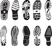 High detail Shoe Tracks collection royalty free illustration