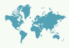 High Detail World map. Vector illustration Royalty Free Stock Photo