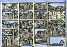 High detailed bookcase Royalty Free Stock Images