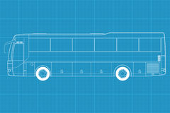High detailed bus illustration Royalty Free Stock Photography