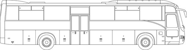 High detailed bus illustration Royalty Free Stock Photo