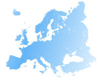High detailed Europe map. Vector Stock Photo