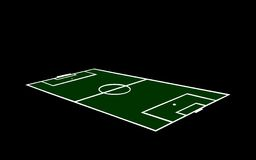 High detailed football field texture Stock Images