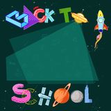 Back to School modern typography banner background stock illustration