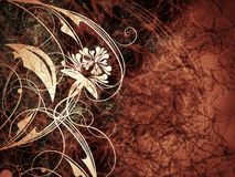 High detailed grunge abstract floral  background Stock Photography
