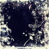 High detailed grunge abstract floral  background Royalty Free Stock Image
