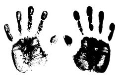 High detailed hand prints Royalty Free Stock Images