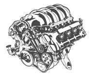 Vector high detailed illustration of abstract engine Stock Photo
