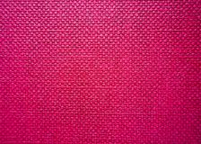 High detailed pink sacking textile texture. Background for design stock photo