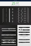 High detailed stitches and dividers set Royalty Free Stock Photo