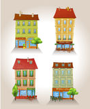 High detailed vector buildings. Parisian theme Stock Photo