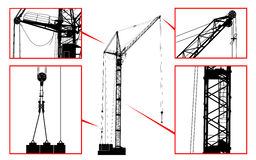 High detailed vector hoisting crane Royalty Free Stock Photo