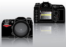 High Detailed Vector Professional SLR Camera Royalty Free Stock Image
